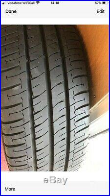Mercedes Alloy Wheels with Continental tyres inc locking nuts & bolts, 5 avail