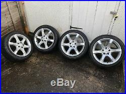Mercedes C Class W203 GENUINE SPORT Alloy Wheels, Tyres & 2 Sets Of Locking Nuts