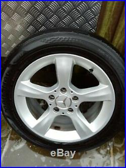 Mercedes alloy wheels and bolts and lock nuts