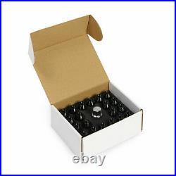 Mishimoto Rockstar Aluminium Locking Wheel Nuts, M12 x 1.25, Black