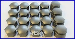 NEW GENUINE 17mm AUDI A3 A4 A5 A6 Q5 A8 WHEEL NUT BOLT COVERS LOCKING CAPS x20