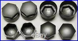 NEW GENUINE AUDI A2 A3 A4 A5 A6 A7 Q5 17mm WHEEL NUT BOLT COVERS LOCKING CAPS