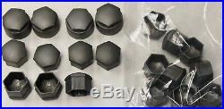 NEW GENUINE AUDI A2 A3 A4 A5 A6 A8 17mm WHEEL NUT BOLT COVERS LOCKING CAPS x20