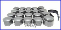 NEW GENUINE AUDI R8 WHEEL NUT BOLT COVERS 17mm LOCKING CAPS WITH TOOL 2006-2019