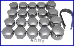 NEW GENUINE AUDI TT 2006-2021 WHEEL NUT BOLT COVERS 17mm LOCKING CAPS WITH TOOL