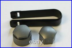 NEW GENUINE SKODA ROOMSTER 17mm WHEEL NUT BOLT COVERS LOCKING CAPS WITH TOOL