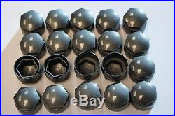 NEW GENUINE SKODA SUPERB 17mm WHEEL NUT BOLT COVERS LOCKING CAPS ROUND