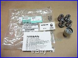 New Genuine Nissan Navara Set Of 4 Locking Wheel Nuts/Bolts KE40989951