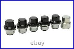 New Set Black Wheels nuts & Locking Wheel Nut Set for Land Rover Defender Alloys