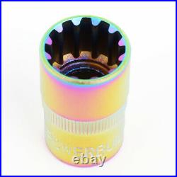 Nrg Ln-t200sl-21 16pcs 27mm Open-end Wheel Rim Lug Nut + 4 Lock + Key M12x1.5