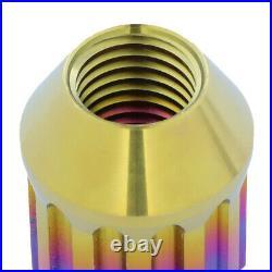 Nrg Ln-t210mc-21 16pcs 27mm Open-end Wheel Rim Lug Nut + 4 Lock + Key M12x1.25