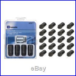 OEM Wheel Lug Nuts & Lock Kit Black 17-19 Buick Cadillac Chevrolet GMC 84332438