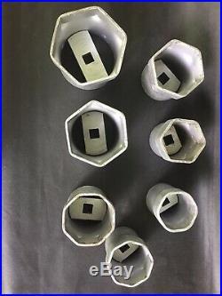 OTC Tools 7 PIECES Wheel Bearing Lock nut Sockets 3/4 DRIVE SET LOCKNUT