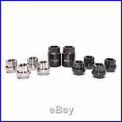 PSDesigns Black Line Titanium Locking Wheel Nuts M12x1.5mm