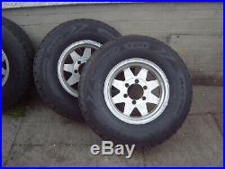 Pajero/shogun 2.8 2.5 LWB/SWB 4x ally wheels great tyres 265/70 r15 + lock nuts