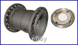 Parkerized WHEEL HUB with RETAINER NUTS & LOCK for 1930 1936 Harley VL VLH