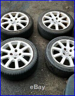 Peugeot Gti alloy Wheels And tyres 195 45 16 Plus Locking Nuts all good tyres