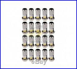 R40 Wheel Locking Nuts Chrome Black (12 x 1.25) 31875K