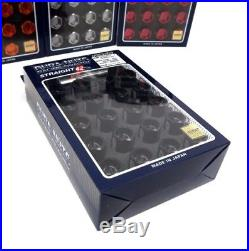 RAYS Black Locking Wheels Nuts Set M12x1.5