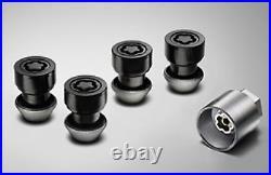 Range Rover Evoque & Velar BLACK Locking Wheel Nut Set VPLVW0072