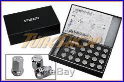 Rays Volk Racing 19hex Double Lock Lug Nuts 12 X 1.25 Acorn Wheel Rim Chrome N