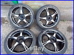 Rover MG F MGF 1996 set of 4 Dynamics alloy wheels & Locking nuts & tyres