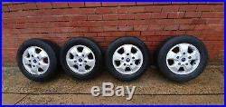 SET OF 4 x FORD TRANSIT CUSTOM ALLOY WHEELS, TYRES AND LOCKING WHEEL NUTS