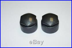 SKODA FABIA OCTAVIA SUPERB 17mm WHEEL NUT COVERS LOCKING BOLT CAPS DARK GREY
