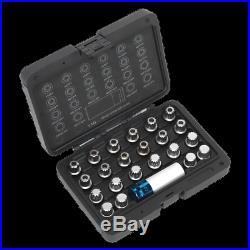 SX210 Sealey Locking Wheel Nut Key Set 23pc VAG Steering, Hub & Suspension