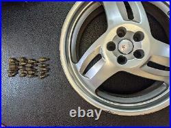 Saab Hirsch Alloy Wheel with Full WHEEL LOCKING NUT SET