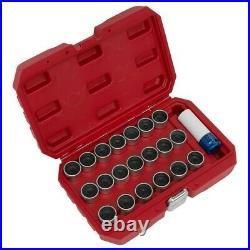 Sealey 21pc Locking Wheel Nut Key Set Bmw