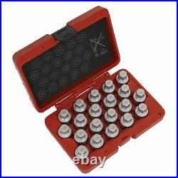Sealey Locking Wheel Nut Key Set 20pc -a Sx214
