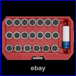Sealey Locking Wheel Nut Key Set 21pc Fits Audi Garage Workshop DIY