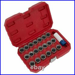 Sealey Locking Wheel Nut Key Set 21pc Sx218
