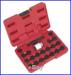 Sealey Locking Wheel Nut Key Set 22pc Audi SX206