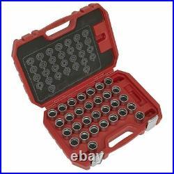 Sealey Locking Wheel Nut Key Set 30pc Sx212
