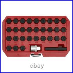 Sealey SX213 Locking Wheel Nut Key Set 32pc for Mercedes