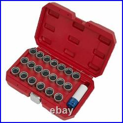 Sealey SX219 Locking Wheel Nut Key Set 20pc VAG