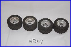 Sees RC-10 T Truck Aluminum Wheels 10 Hole Rare with bearings and rear lock nuts