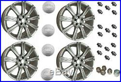 Set 4 Stormer 20 Silver Wheels Locking Nuts & Caps Rr Sport Discovery Lrc1493