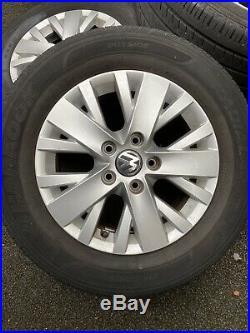 Set Of 4 VW t5 alloy wheels 16 Inch PLUS A FREE SET OF LOCKING WHEEL NUTS