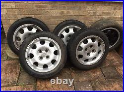 Set Of 5 15 Inch Peugeot 205 Alloys With Eagle F1 Tyers Wheel Locking Nuts