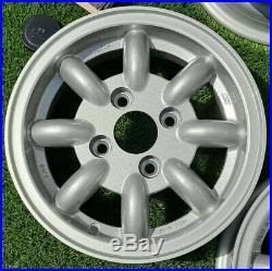 Set of 4 Classic Mini Minator KN 5J x 12 Alloy Wheels + Locking Wheel Nuts, New