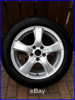 Set of 4 Talig 16 inch 5 spoke alloy wheels with locking nut set, decals & stand