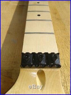 Strat Guitar Neck With Floyd Locking Nut Truss Wheel Ss Frets Guitar Neck Diy