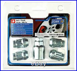 Sumex Anti Theft Locking Wheel Bolts Nuts + Key Set to fit Kia Carens (12x1.50)