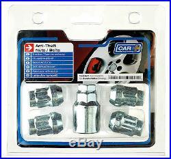 Sumex Anti Theft Locking Wheel Bolts Nuts + Key Set to fit Kia Ceed (12x1.50)