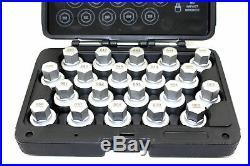 TEMO 20pcs Wheel Lock Lugnut Anti-theft Screw Nut Removal Key Socket Set for BMW