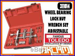 Toledo 311014 Wheel Bearing Lock Nut Wrench Set Adjustable Removal Tool