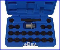 Tool Hub 9884 Locking Wheel Rim Nut Removal Tool Key Set 20 ADAPTER 1/2 Drive
